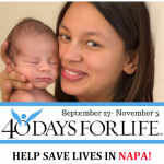 Opening Prayers for Napa 40 Days for Life-September 27, 2017 900AM to 1000AM